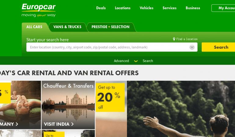 Europcar 歐洲租車網